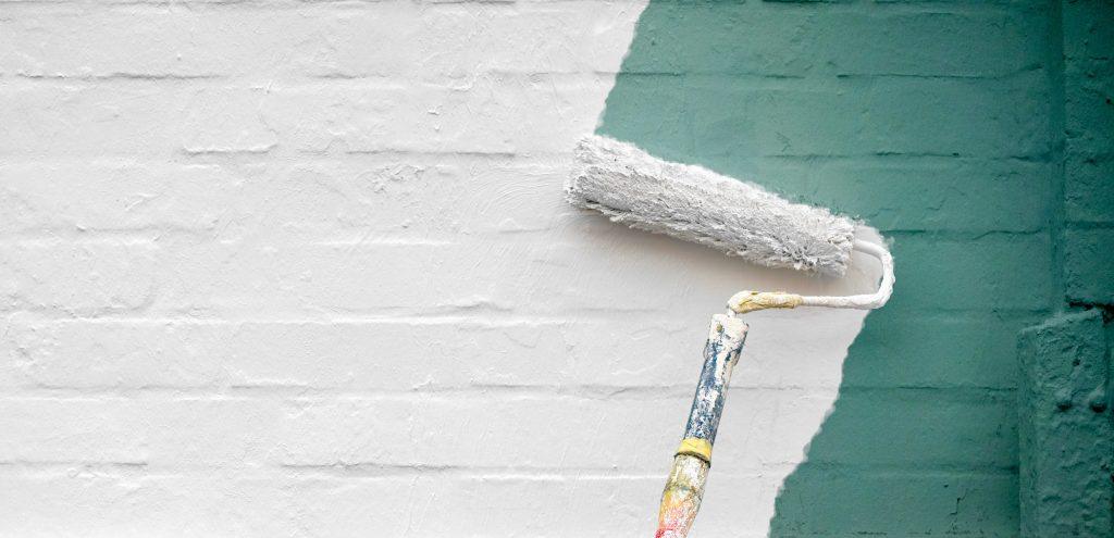 Painting a brick wall